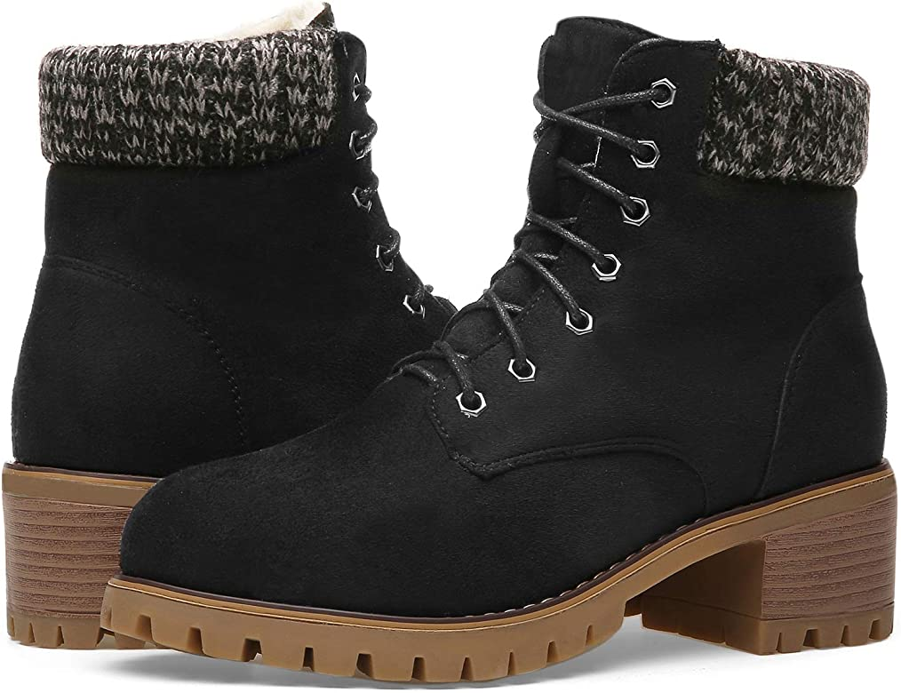 Winter Boots for Women Over Round Boots Comfortable Closed Pointed Toe Snow Ankle Booties