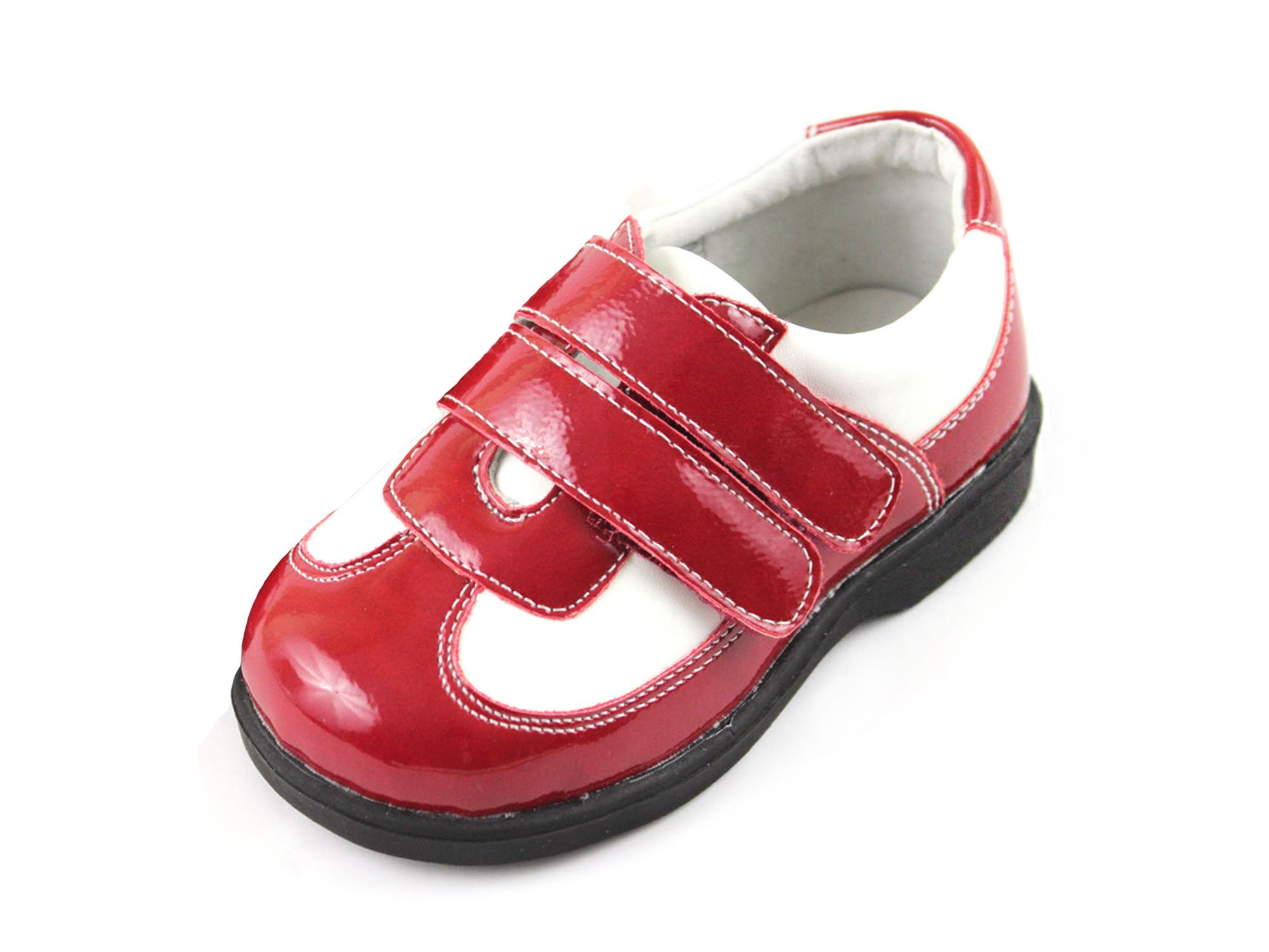 HLT Toddler/Little Kid Girl Double Strap Red Sport/Uniform Shoe [US 10 / EU 26]