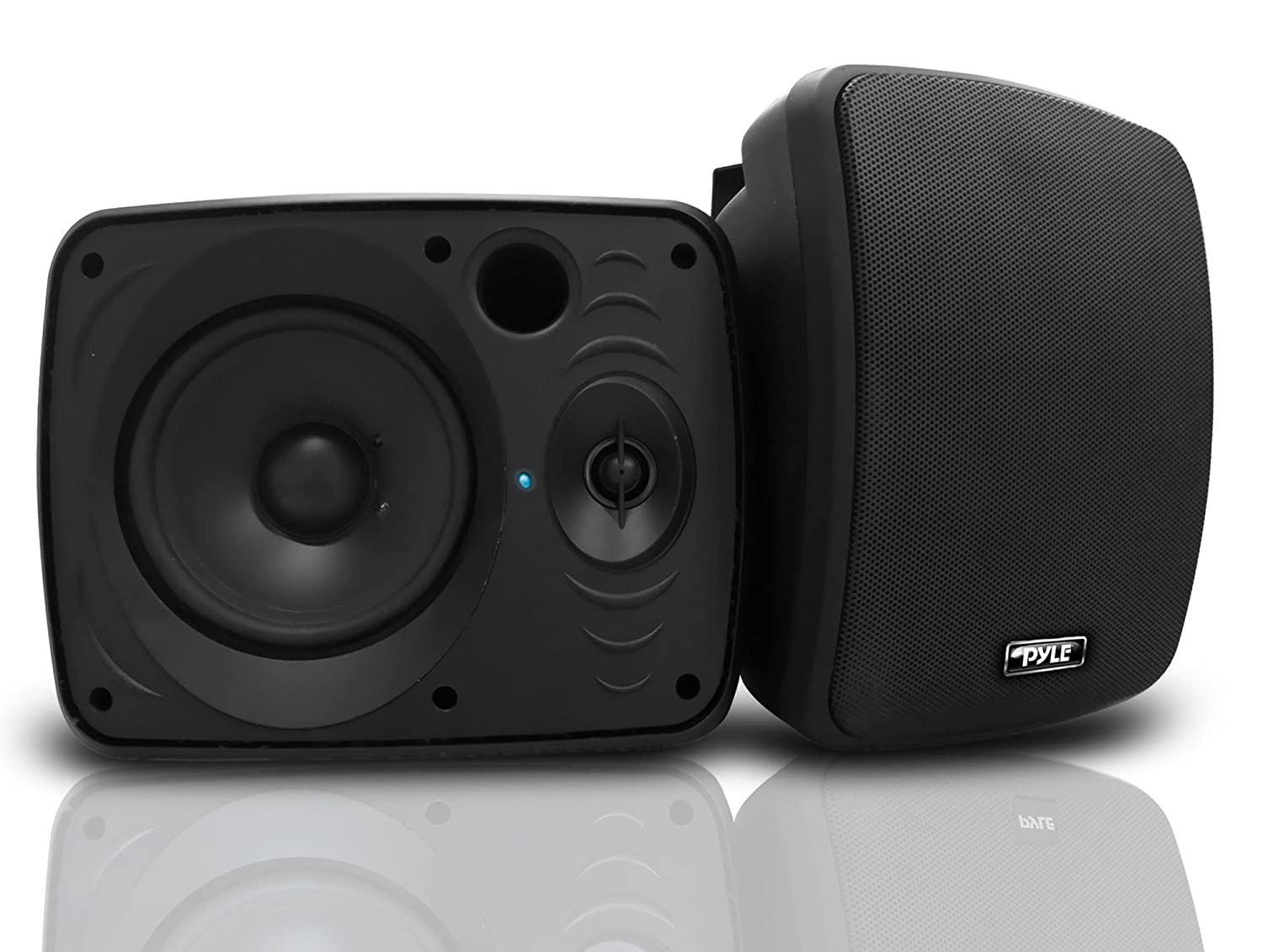 Pyle Audio PDWR54BTB Waterproof and Bluetooth 5.25-Inch Indoor/Outdoor Speaker System, 600 Watt, Black, Pair Sound Around