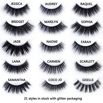 7d024b0d58c Amazon.com : 20 Styles Mink Eyelashes Mink Collection 3D Dramatic Fake Eye  Lashes Makeup Mink Eyelashes Bridget : Beauty