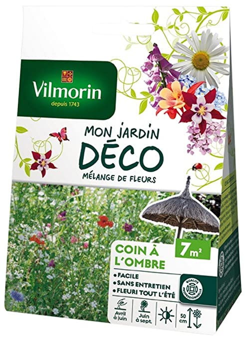 Vilmorin 5868407 Pack de Graines Mélange de Fleurs Coin à l\'Ombre 7 m²