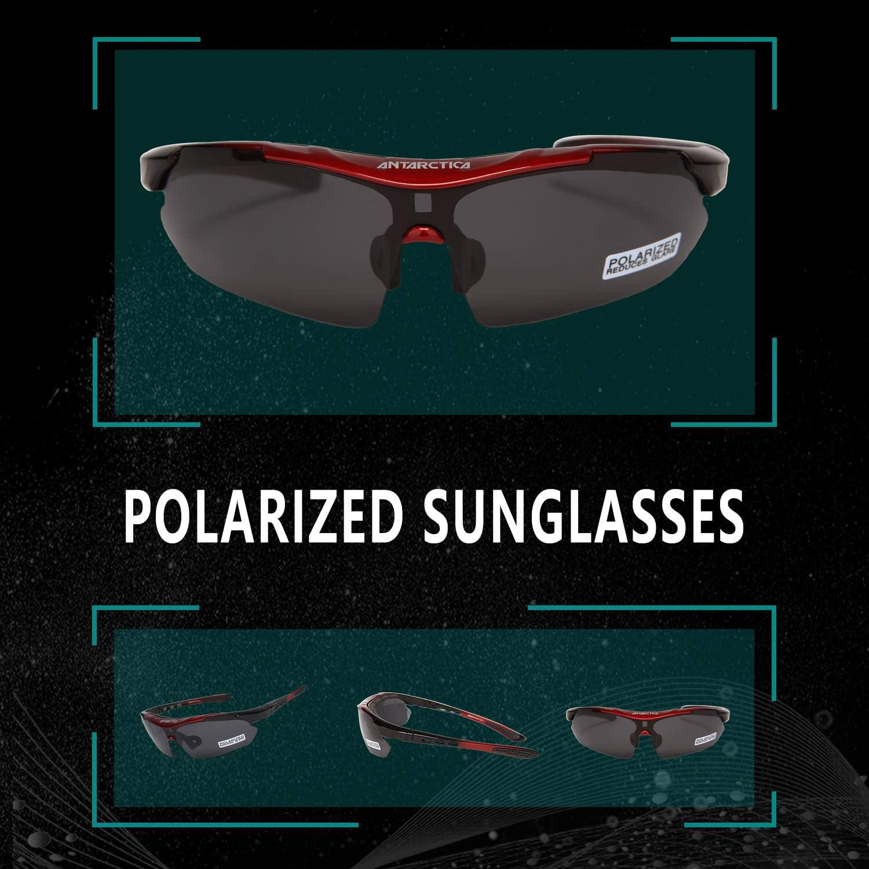 5 Lens ANTARCTICA Sports Polarized Sunglasses UV400 Protection Cycling Fishing Glasses