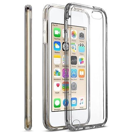 Carcasa de gel TPU suave y flexible para iPod Touch 5ª/6ª generación (iPod Touch 5ª/6ª generación, transparente)