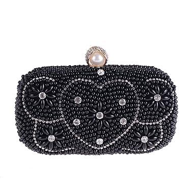 KERVINJESSIE Heart-shaped Handbag Pearl Banquet Bag Evening Bag Small  Square Bag (Color