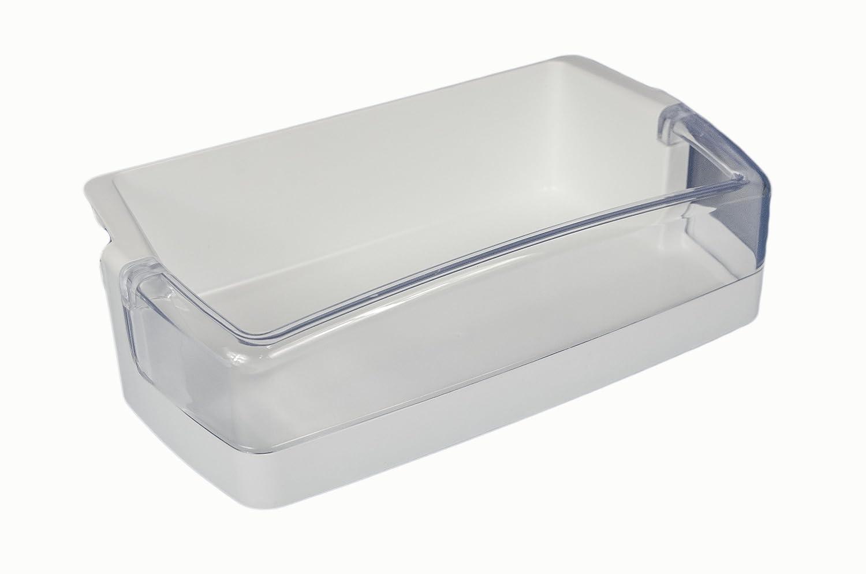 LG Electronics 5005JJ2022A Refrigerator Door Shelf/Bin, White with Clear Trim