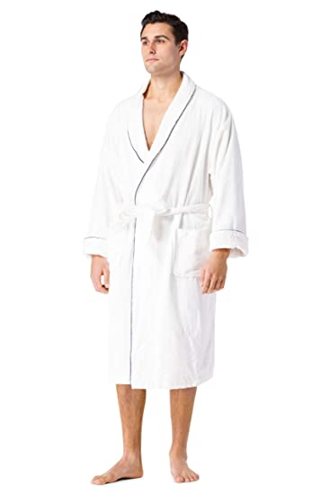 76f9ca4bba Fishers Finery Men s Premier EcoFabric Turkish Style Terry Spa Robe  Ultra  Plush at Amazon Men s Clothing store