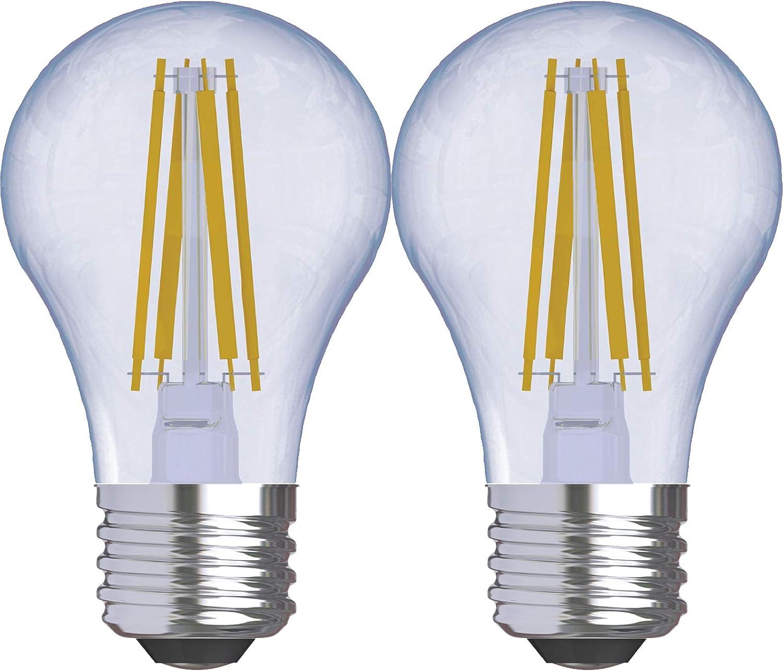 GE Lighting 31881 Clear Finish Light Reveal HD Dimmable LED A15 Ceiling Fan Bulb 5.5 (60-Watt-Replacement), 420-Lumen Medium Base, 2-Pack Standard, 2