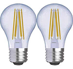 GE Lighting 31892 Clear Finish Light Reveal HD Dimmable LED A15 Ceiling Fan Bulb 4.5 (40-Watt-Replacement), 290-Lumen Medium Base, 2-Pack Standard, Piece