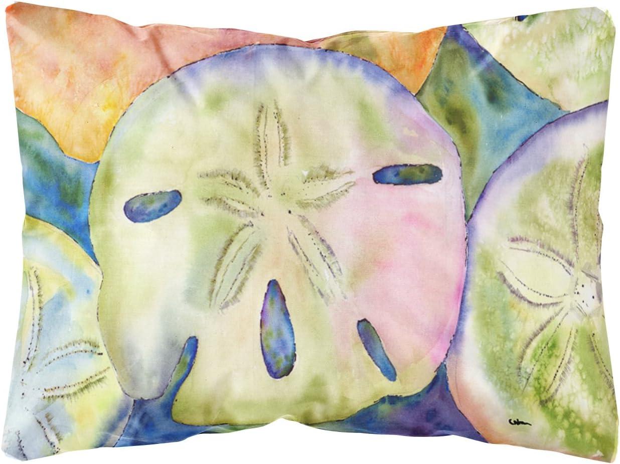 Caroline s Treasures 8545PW1216 Sand Dollar Canvas Fabric Decorative Pillow, 12H x16W, Multicolor
