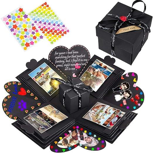 NEUFLY Caja Sorpresa Regalo, Creativo Caja Regalo DIY Álbum de Fotos Explosion Box para Cumpleaños Día de San Valentín Aniversario Navidad: Amazon.es: Hogar