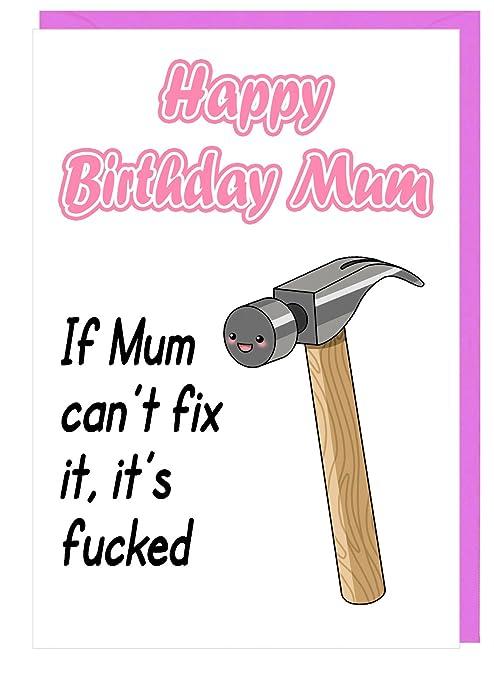 Tarjeta de cumpleaños divertida para mamá - si la madre no ...