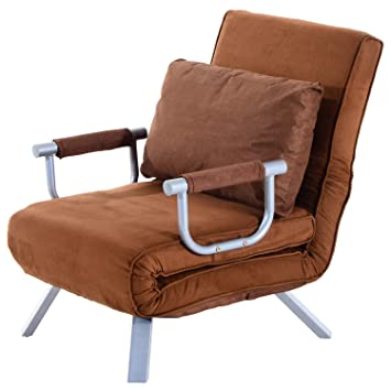 Homcom Fauteuil Chauffeuse Canape Lit Convertible 1 Place