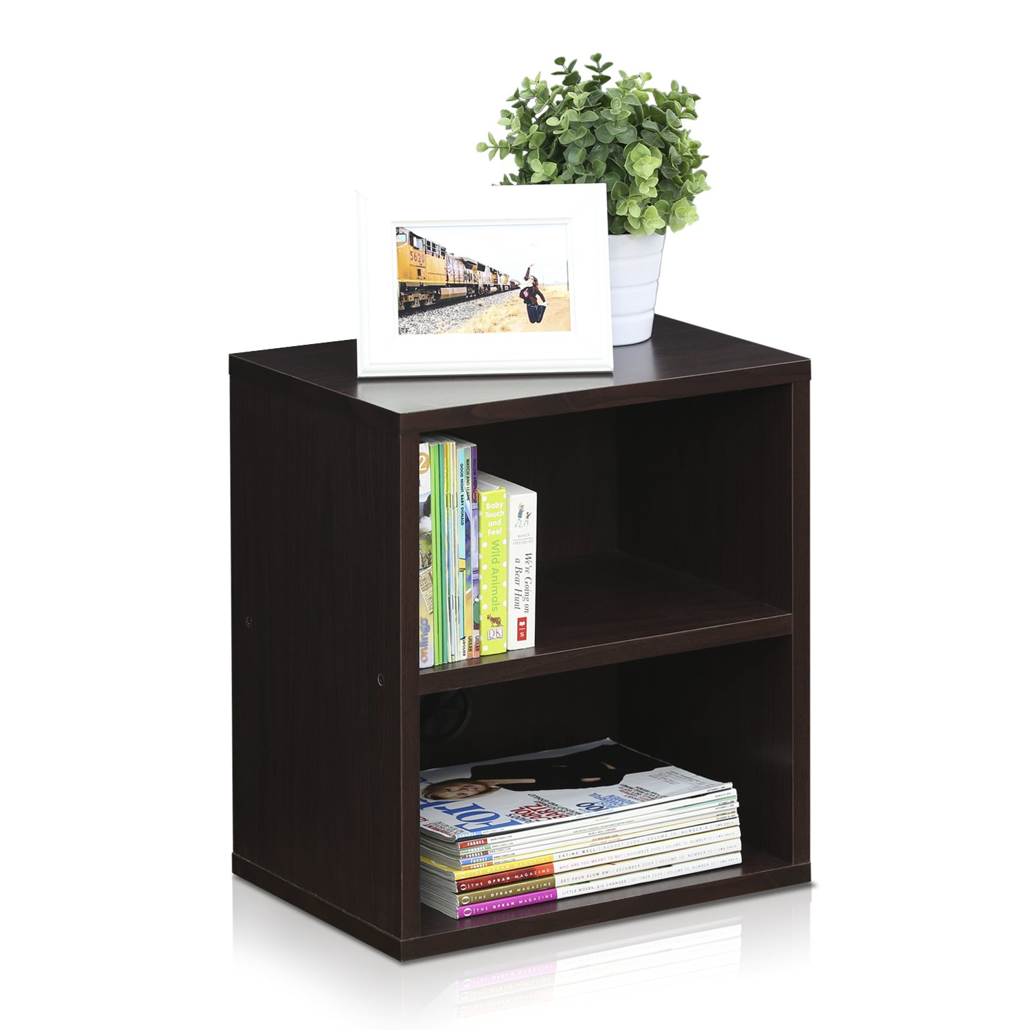 Furinno Indo FLS-4030EX 3-Tier Petite Audio Video Display Shelf, Espresso