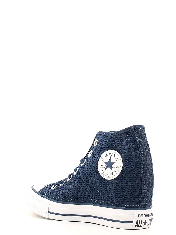38c0538ac712 Converse Ct Lux Mid Scarpe Donna in Pizzo Crochet Blu 552696C - Blue ...