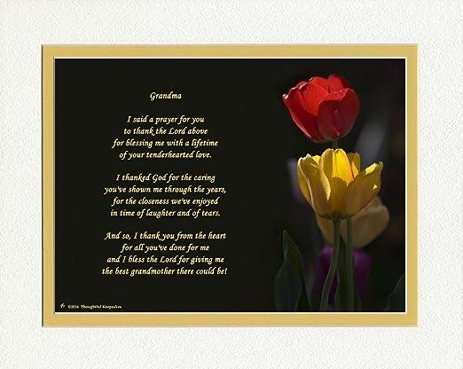 Grandma Cadeau Avec Thank You Prière Pour Une Meilleure