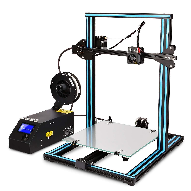 GUCOCO Neueste CTC 3D Drucker A10S Groß Aluminium RahmenHohe Genauigkeit mit beheiztem Bett Druck Größe—300x300x400mm 3D Printer Kit (CTC A10S 300x300x400mm 3D Drucker)