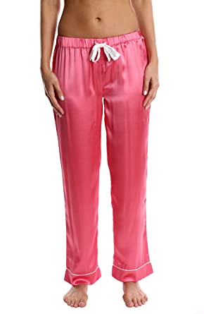 Blis Women s Satin Pajama Pants - Ladies Comfy Lounge   Sleepwear PJ  Bottoms - Blush Flower bfdd83c8c