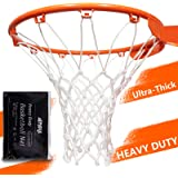 Amble Basketball Net Replacement Heavy Duty Net in All Weather for Indoor and Outdoor - 12 Loops Rim