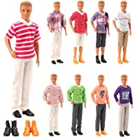 Barwa Lot 8 Items Clothes for 12 Inch Boy Doll EU CE-EN71 Certified Include 3 Sets Casual Wear + 3 Pcs Dolls Pants +2…