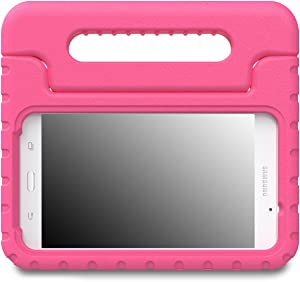 MoKo Samsung Galaxy Tab A 7.0 Case - Kids Shock Proof Convertible Handle Light Weight Super Protective Stand Cover for Samsung Tab A 7.0 Inch Tablet 2016 Release(SM-T280/SM-T285 Version ONLY), MAGENTA