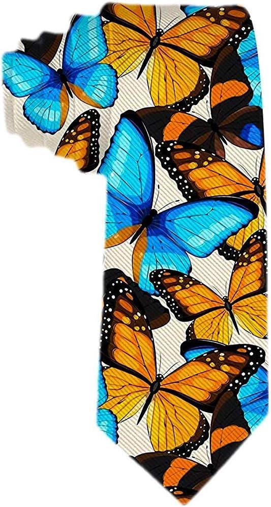 Corbatas únicas Corbatas de mariposa de oro azul para hombres ...