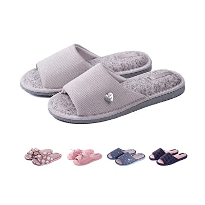 Open Toe Cute House Slippers for Women Indoor Women`s Slip-on Slide Anti Slip Light House Shoes Spa Slipper for Girls for Guests by Twins | Slippers