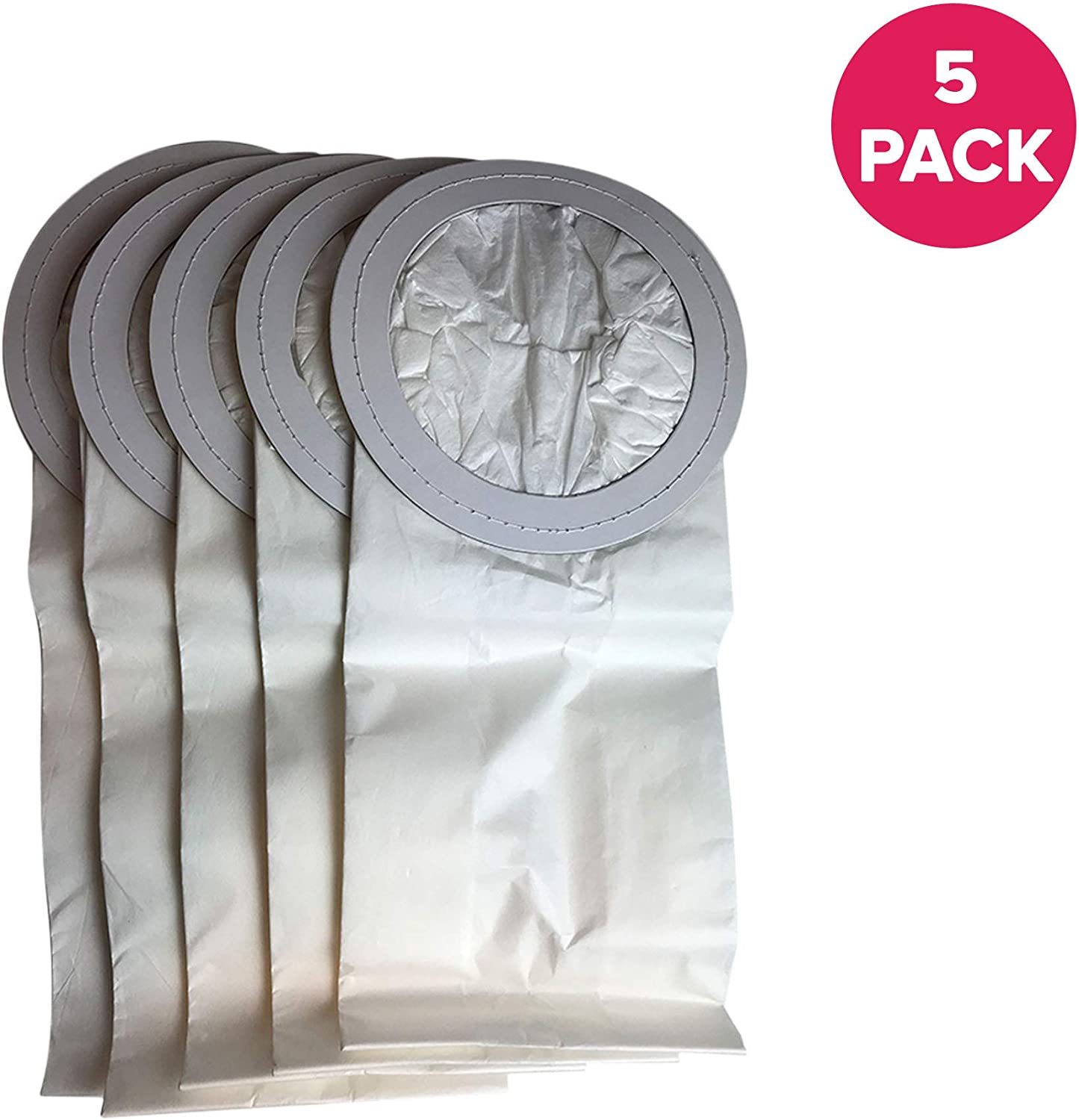 Crucial Vacuum Replacement Vac Bags Part # 100331 - Compatible with ProTeam 10 QT Bags Fit 10-Quart Vac Bags - Compact Disposable Bag - Home, Vacs, Models - Perfect for Reducing Debris (5 Pack)