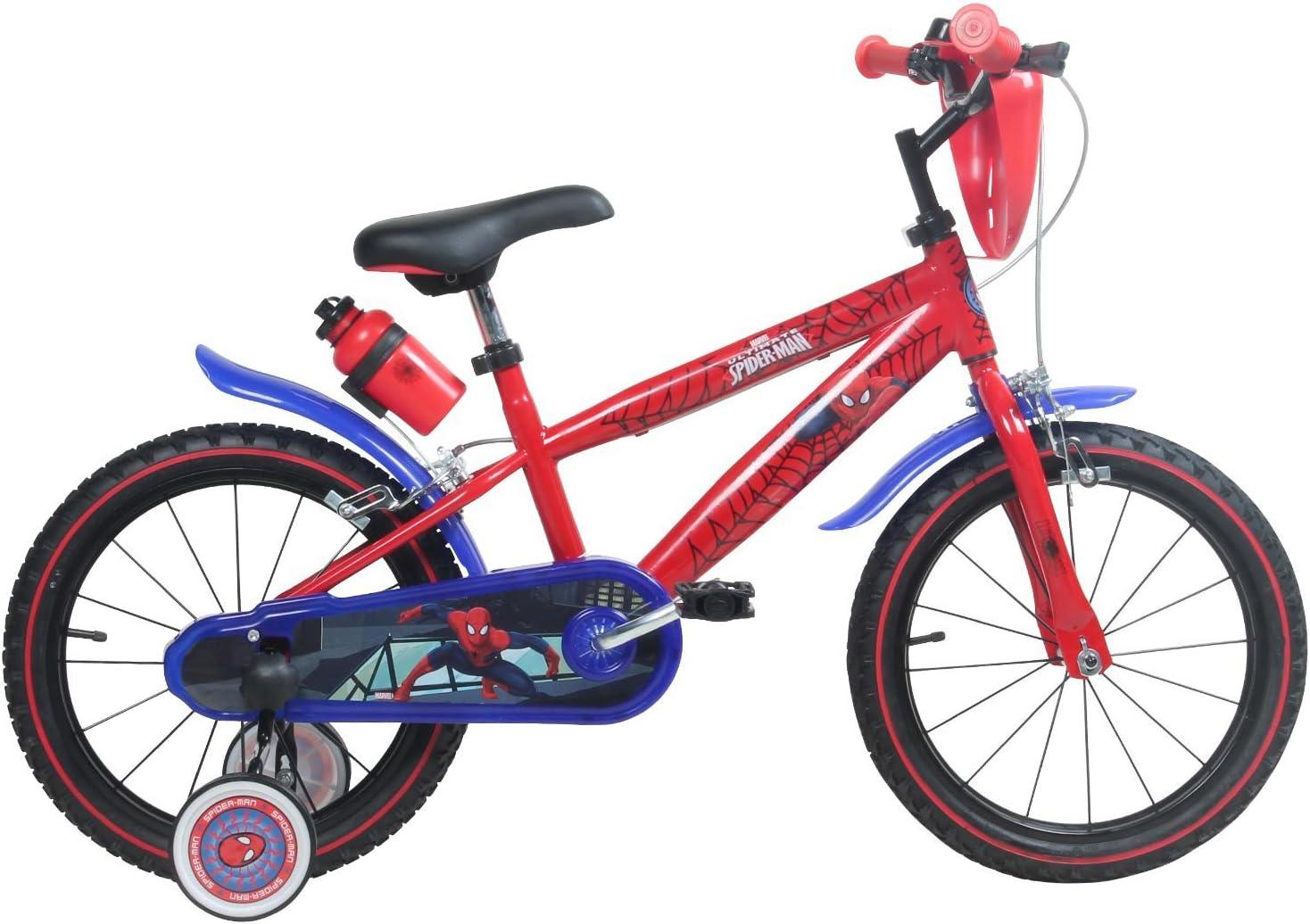 Bicicleta 16 pulgadas Marvel Spiderman Niños para niños a partir ...