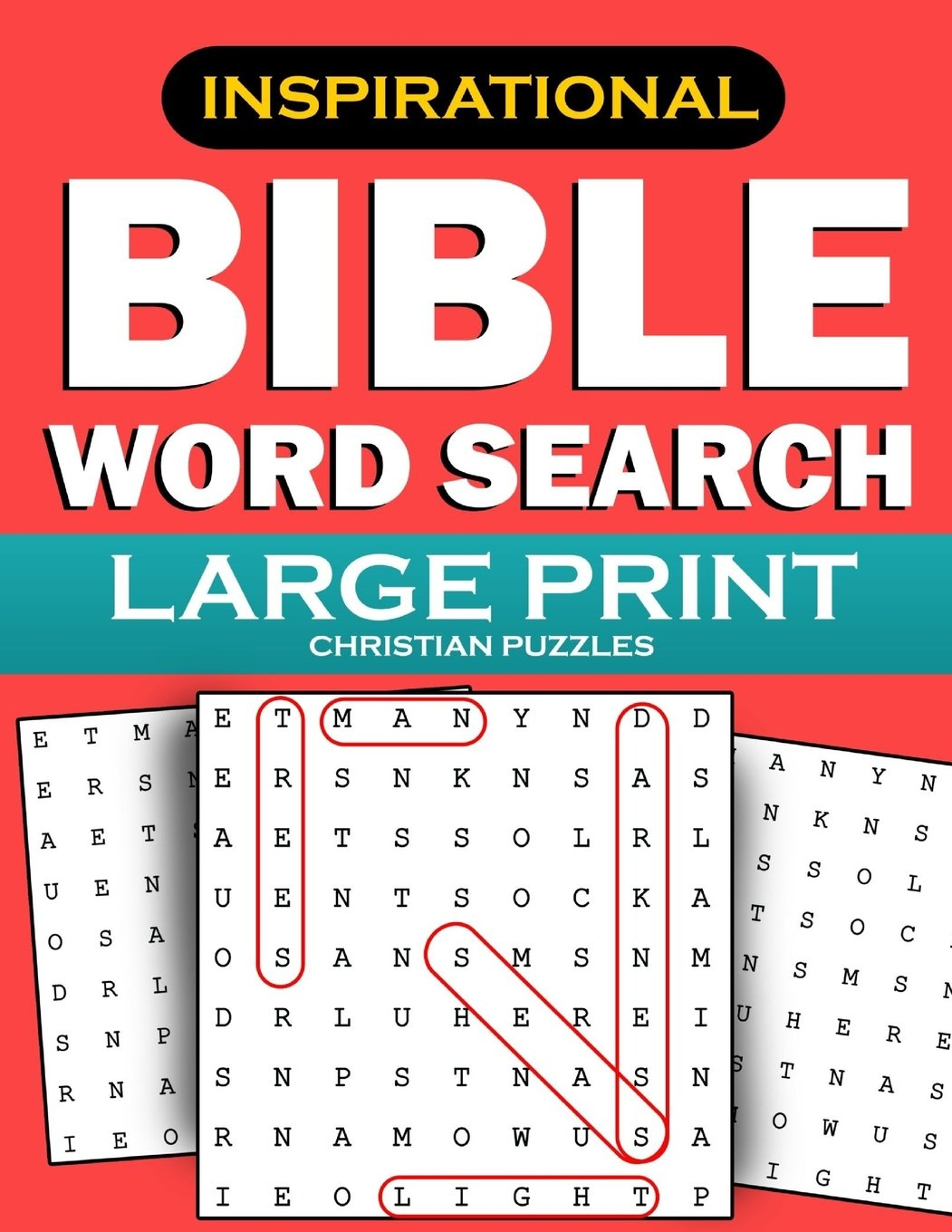 Amazon com: Bible Word Search: Large Print Christian Puzzles