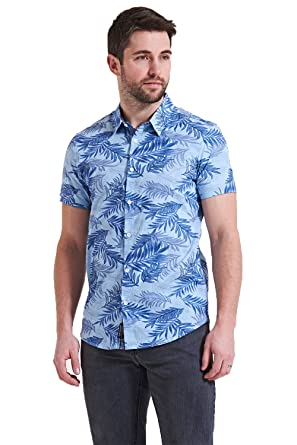 cbdc3b0716ae Threadbare Mens Summer Patterned Cotton Short Sleeve Shirt: Amazon ...