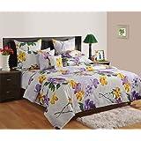 Swayam Midas 120 TC Cotton Double Bedsheet with 2 Pillow Covers - Floral, Multicolour