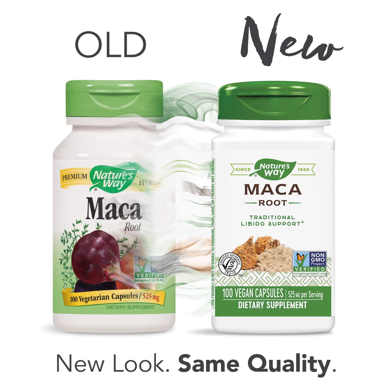 Nature's Way Premium Herbal Maca Root 525 mg, 100 VCaps (Packaging May Vary)