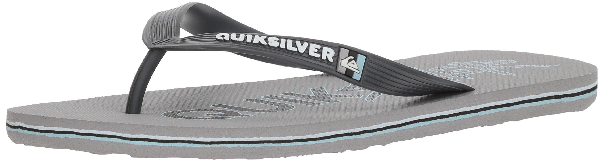 Quiksilver Men's Molokai Wordmark Sandal, Grey/Grey/Black, 11 M US