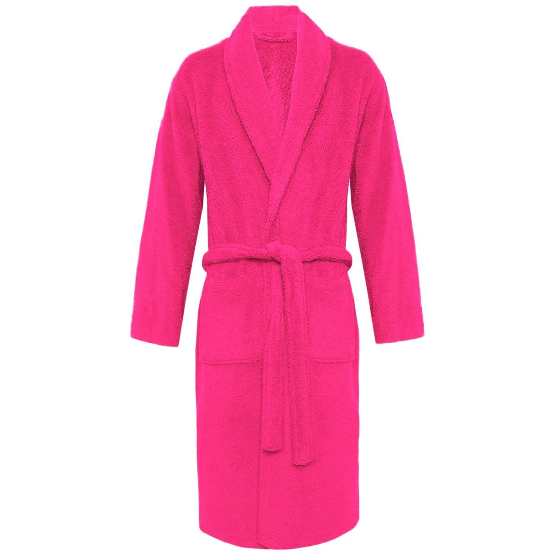 MyShoeStore Womens Mens 100% Luxury Egyptian Cotton Super Soft Terry Towelling Bath Robe Unisex Ladies Dressing Gowns Towel Bathrobe Nightwear Housecoat ONE Size