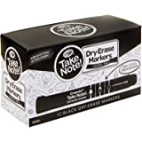 Crayola Whiteboard Marker Take Note! Bulk 12pk, Black, Chisel Tip, Great for Classroom or Boardroom, (58 6546)