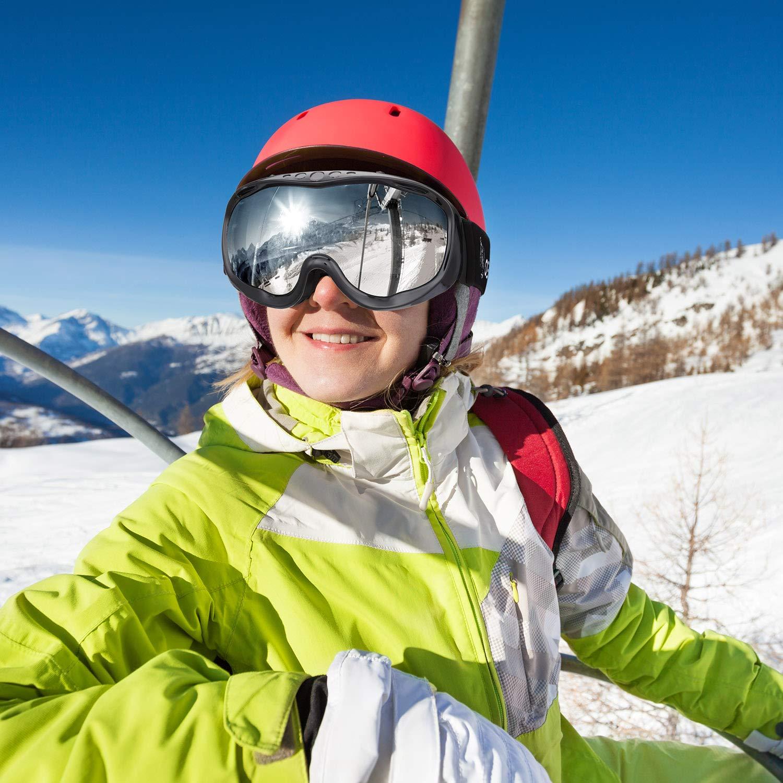 enkeeo maschera da sci  Occhiali da Snowboard Full Frame ENKEEO Maschera da Sci Ideale per ...