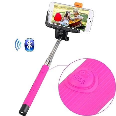 Palo para Selfie Inalámbrico Portátil con Control Bluetooth Extensible Con Soporte Ajustable para Sujetar Cámaras y