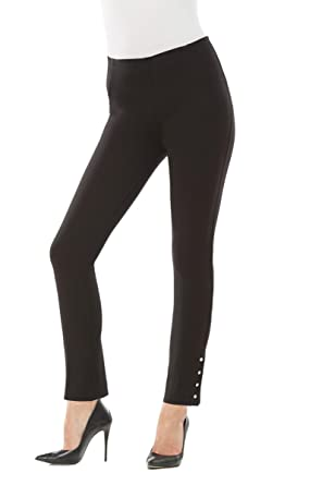 7fd37fb910d94 Nygard Women s Regular Slims Luxe Ankle Pant with Snap at Amazon ...