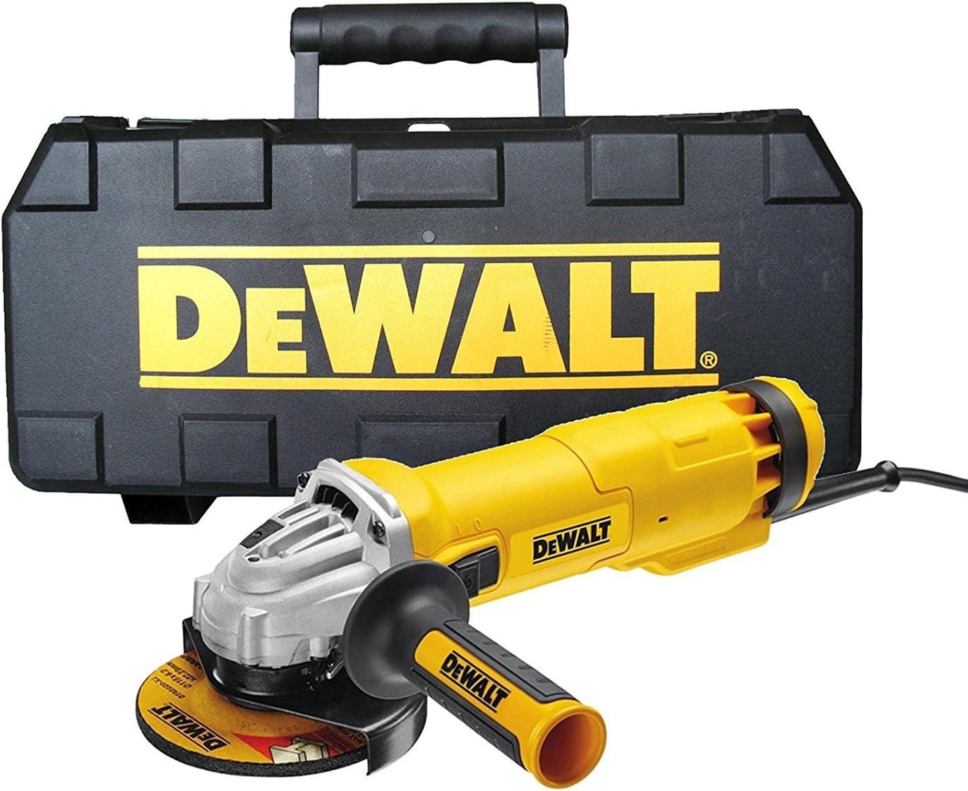 DeWALT DWE4206K-LX Angle Grinder Yellow//Black 110 V