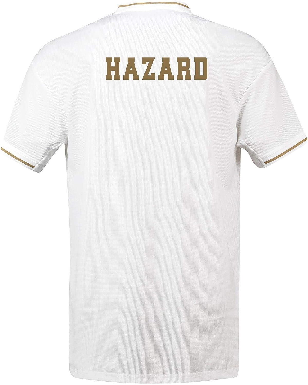 Camiseta de la 1ª equipación del Real Madrid 2019-20 Dorsal Hazard: Amazon.es: Deportes y aire libre