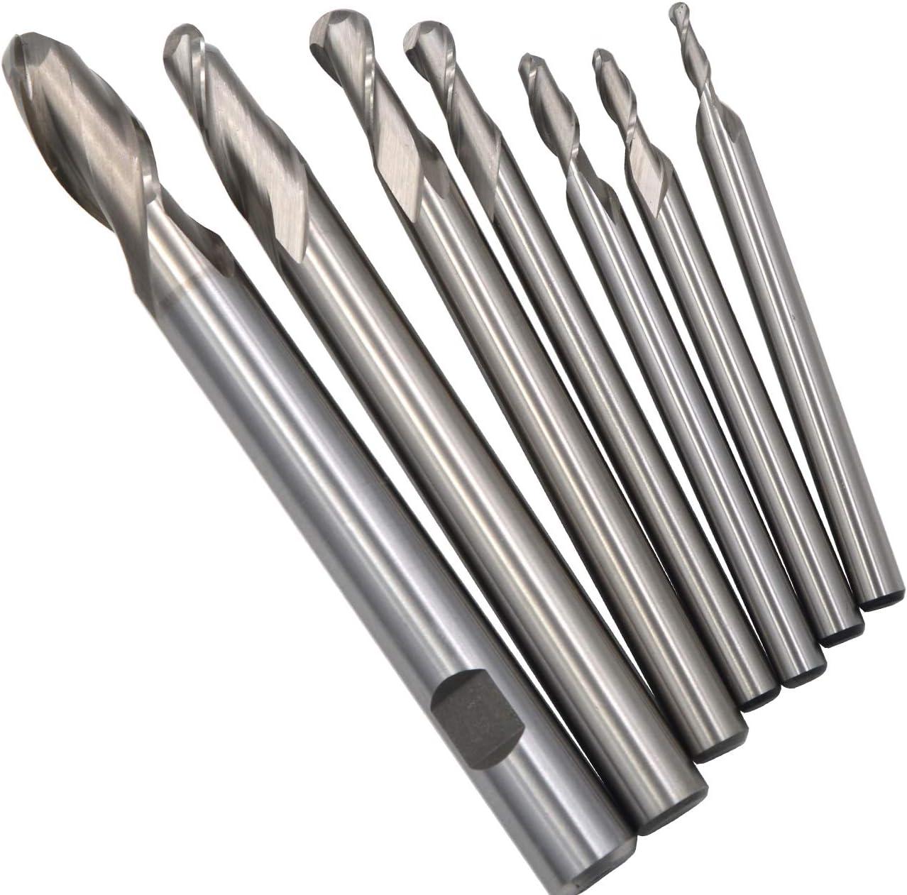 10 pcs 1.5mm x 6mm Four 4 Flute HSS /& Aluminum End Mill Cutter CNC Bit