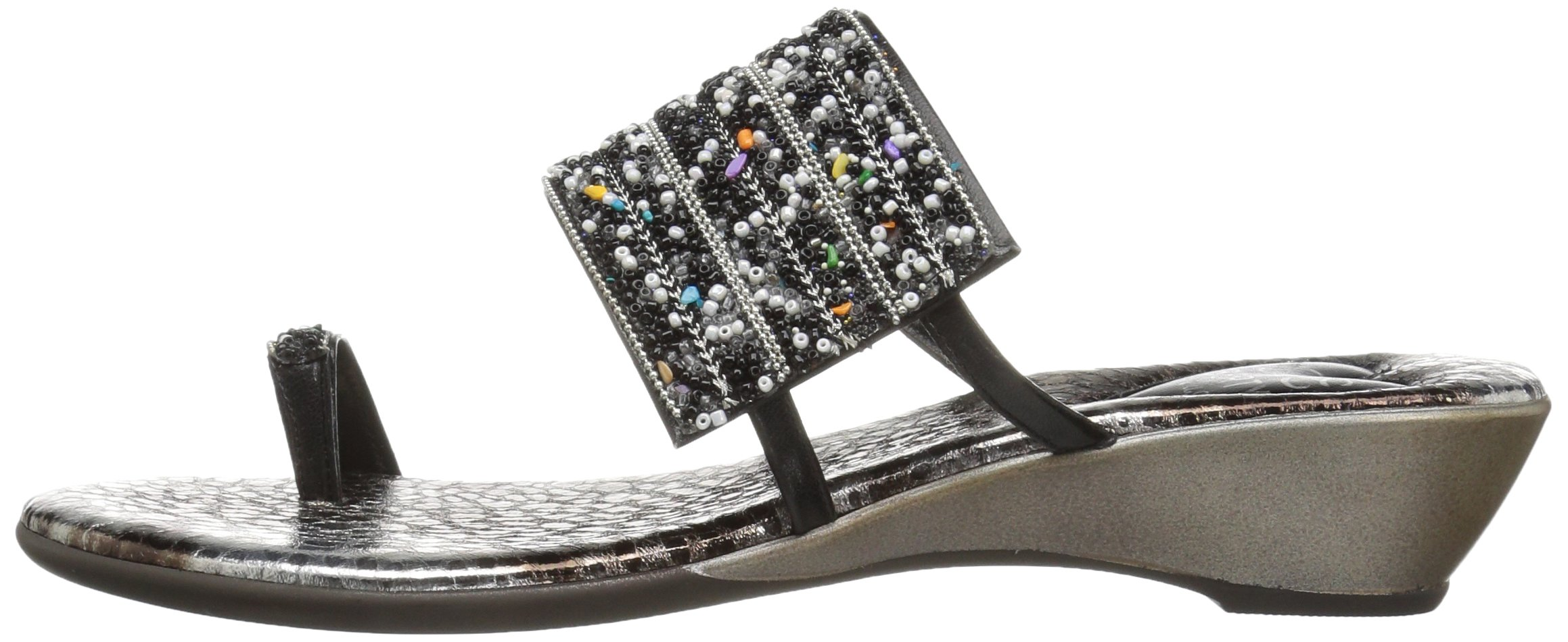 Love & Liberty Women's Sammy-Ll Toe Ring Sandal, Black, 7 M US by Love & Liberty (Image #5)