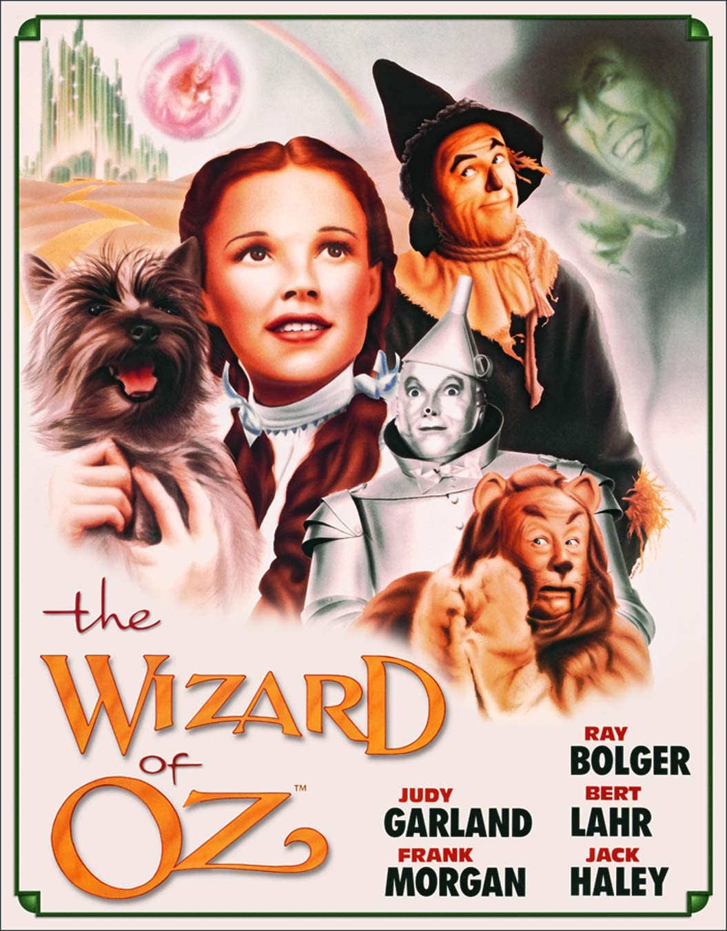 """Desperate Enterprises The Wizard of Oz Poster Illustrated Tin Sign, 12.5"""" W x 16"""" H"""