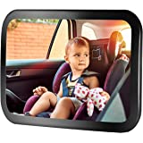Baby Car Mirror, TOPELEK Car Seat Mirror 360°Adjustable Rear Viewing Child/Infant Backseat Mirror, Shatterproof with Anti-Wobble Fixing Straps
