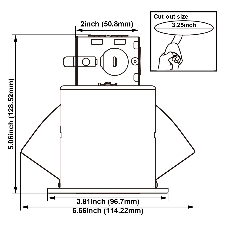 TORCHSTAR Recessed Lighting Kit: 3-Inch ETL-listed Airtight IC Housing + White Swivel Trim + LED Dimmable GU10 Light Bulb Warm White, Rotatable Spotlight, Decorative Retrofit Downlight, Pack of 6 by TORCHSTAR (Image #8)