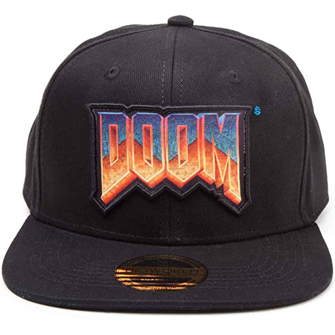 Image Unavailable. Image not available for. Color  Doom Baseball Cap  Classic Logo Official Gaming Black Snapback 0c25d5f2b07f