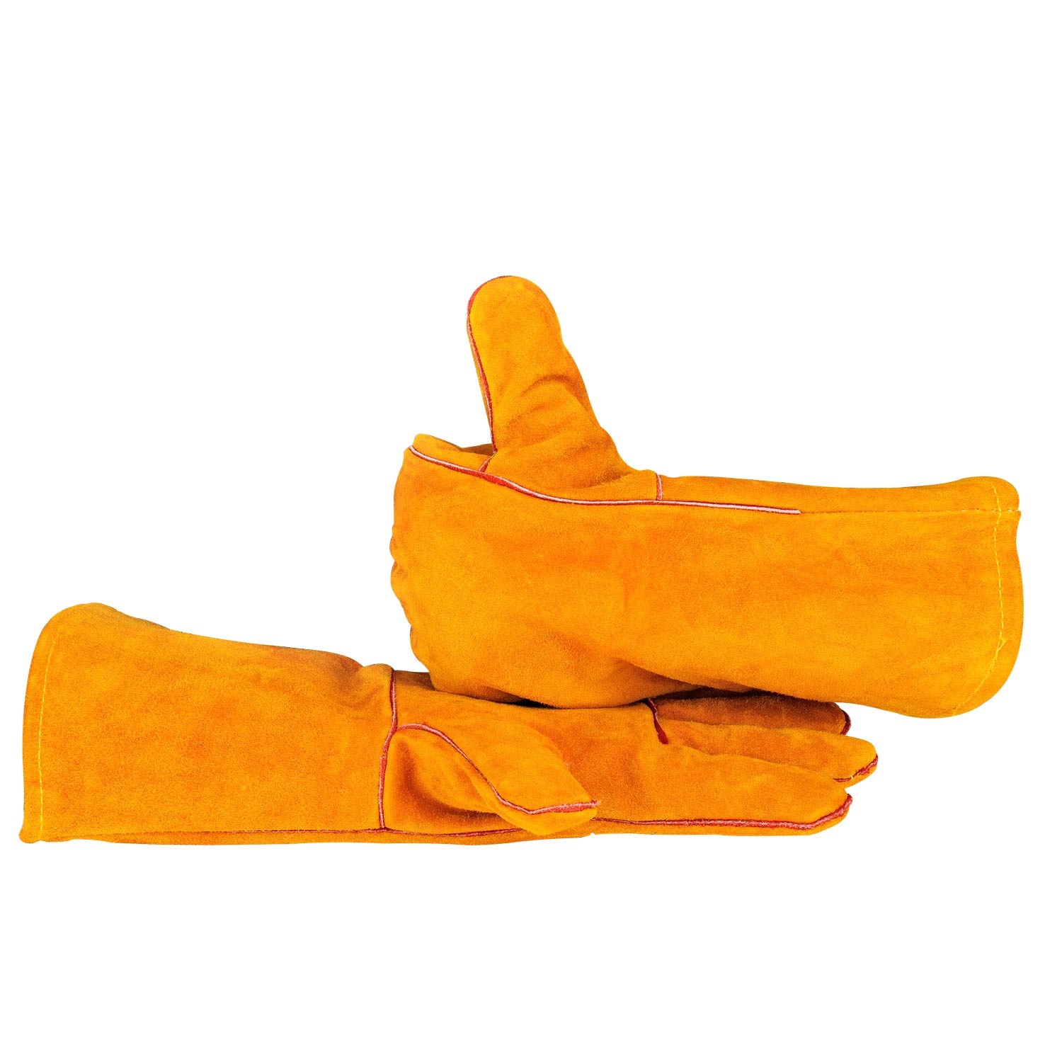 Welding Gloves Mig/Large Heat-Resistant Flame Retardant Quality Lined Leather Forearm Protection Kevlar Stitching 14' Jinhua Xiangzu tools Co. LTD
