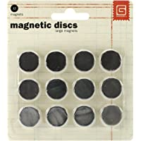 BasicGrey 5/8-Inch-by-1/32-Inch Magnetic Snaps Large.