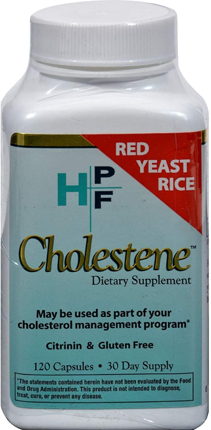 Healthy Origins HPF Cholestene Red Yeast Rice - Cardiovascular Support - Gluten Free - 120 Capsules (Pack of 2)