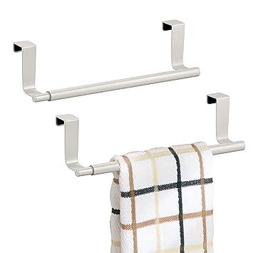 mDesign decorativo cocina más de armario ampliable toalla bares – colgar en el interior o fuera